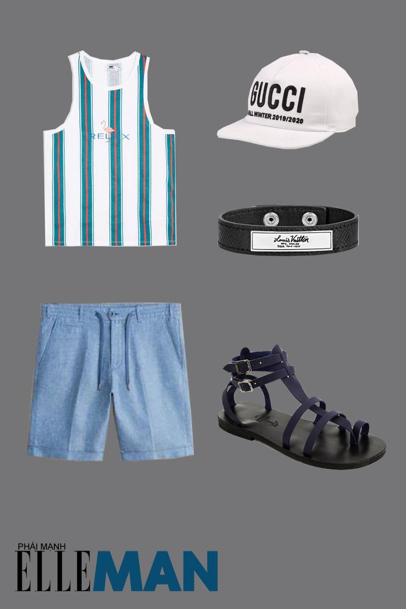 outfit 2 - giày chiến binh nam theo phong cách casual