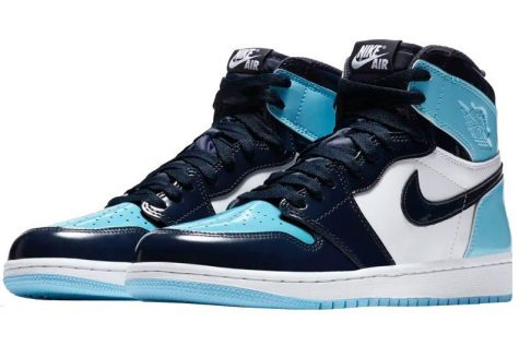 Giày sneaker ELLE Man Air Jordan 1 'UNC Patent'