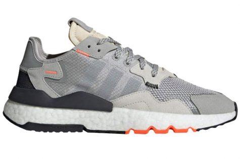 Giày thể thao đẹp ELLE Man Adidas Nite Jogger 'Gray/Solar Orange'