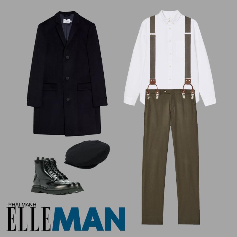 phong cách thời trang mod áo sơ mi trắng áo khoác đen