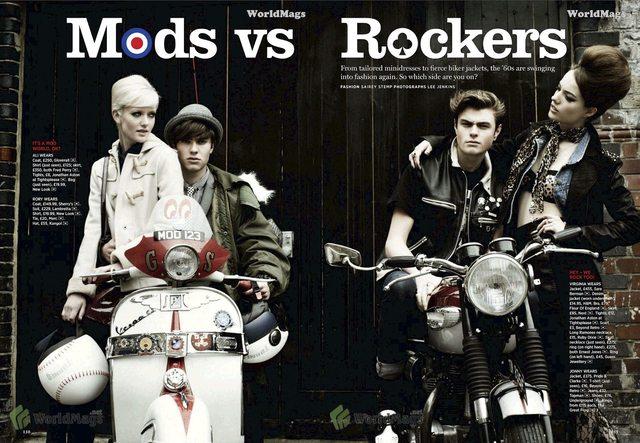thời trang mod vs rockers