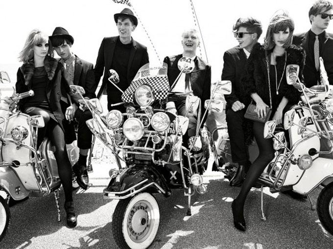 văn hoá phong cách thời trang mod của những năm 60 cùng những chiếc xe vespa cổ