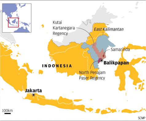 Thủ đô Jakarta hiện tại trên đảo Java sẽ được dời đến vùng Đông Kalimanta trên đảo Borneo.
