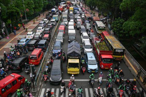 Theo một nghiên cứu năm 2016 của Castrol, Jakarta là một trong những thành phố có tình trạng giao thông tồi tệ nhất thế giới. Ảnh: AFP
