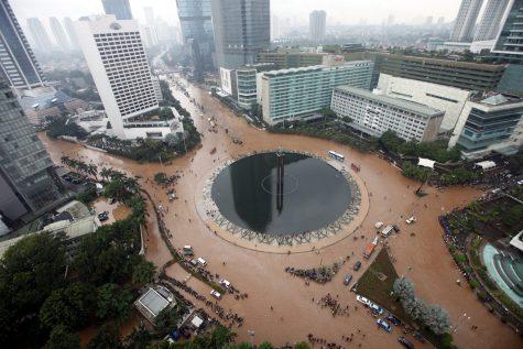 Lũ lụt tại Jakarta vào năm 2013. Ảnh: Jakarta Globe