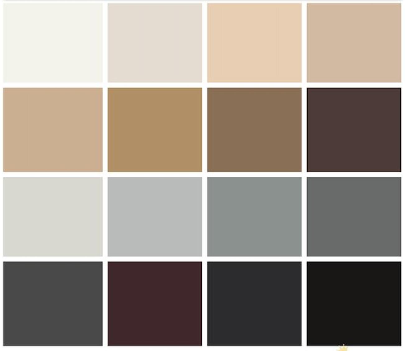 phong cách monochrome tông màu của mùa thu