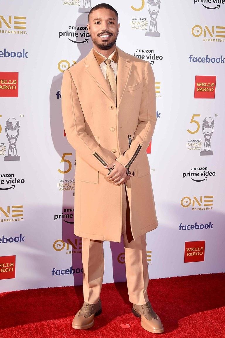 phong cách thời trang monochrome michael B Jordan