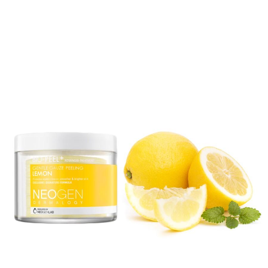 Tẩy tế bào chết elle man Neogen Dermalogy Bio-Peel Gạc Peeling Lemon