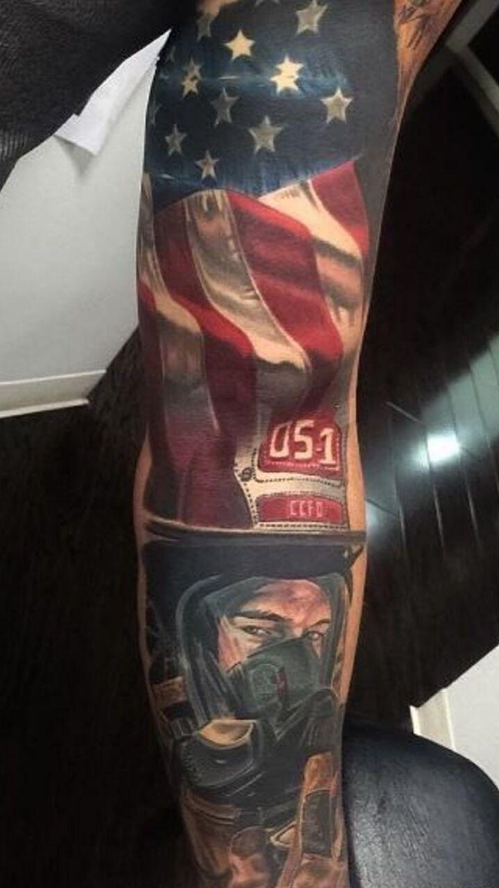 biểu tượng lá cờ được xăm trên cánh tay - hình xăm nam giới - 2019 - elle man