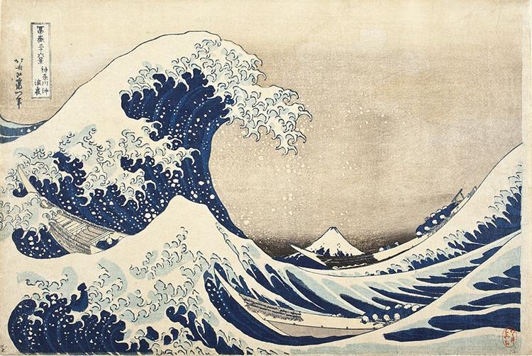 """Katsushika Hokusai cũng chính là tác giả của bức tranh """"The Great Wave off Kanagawa"""" nổi tiếng. Nguồn: Wikimedia Commons"""