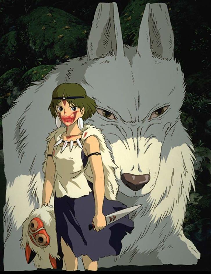 "hoạt hình anime elle man ""Princess Mononoke"" (1997)"