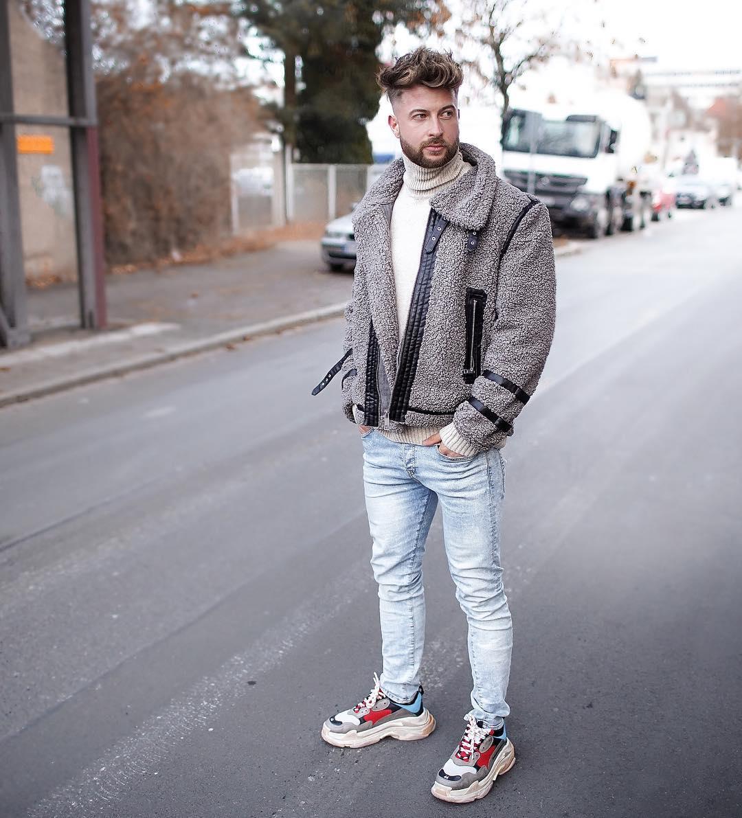 giày thể thao chunky sneakers - tobias