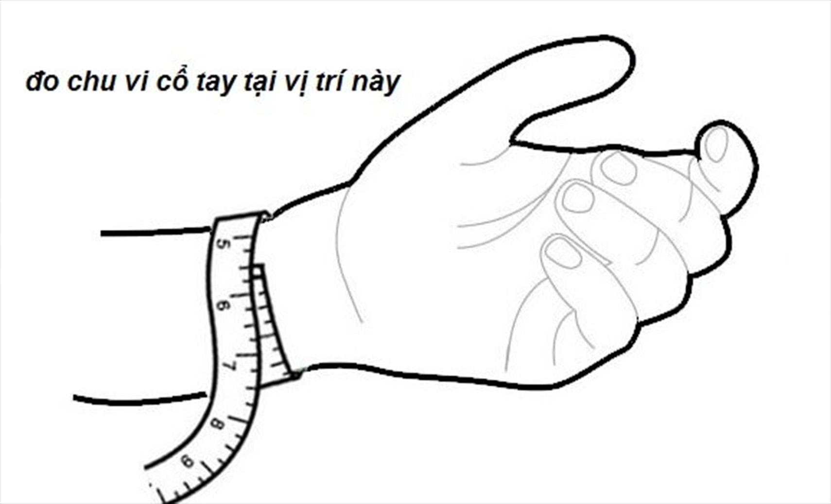 Tính chu vi cổ tay