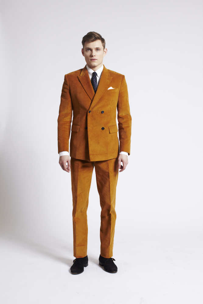 Suit nam vải corduroy