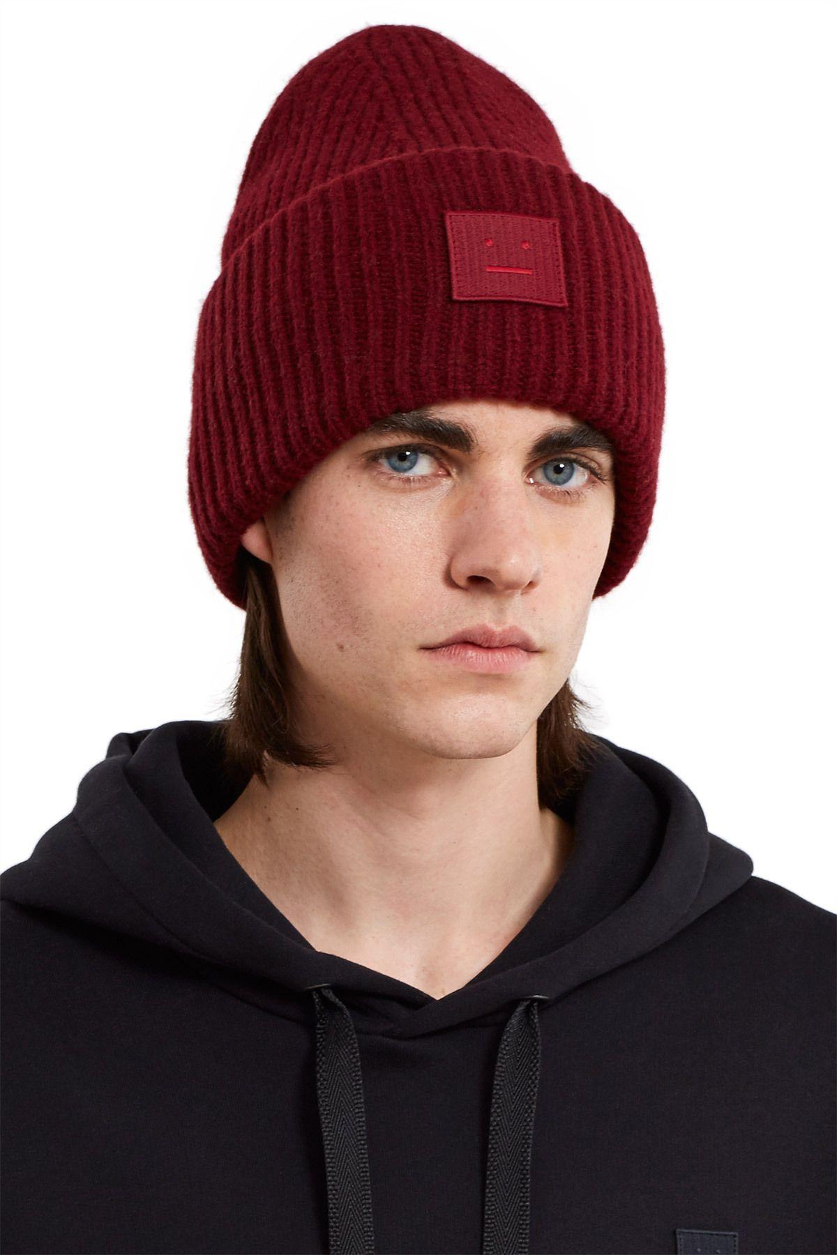 xu hướng thời trang - nón len - thương hiệu Acne Studios - elle man