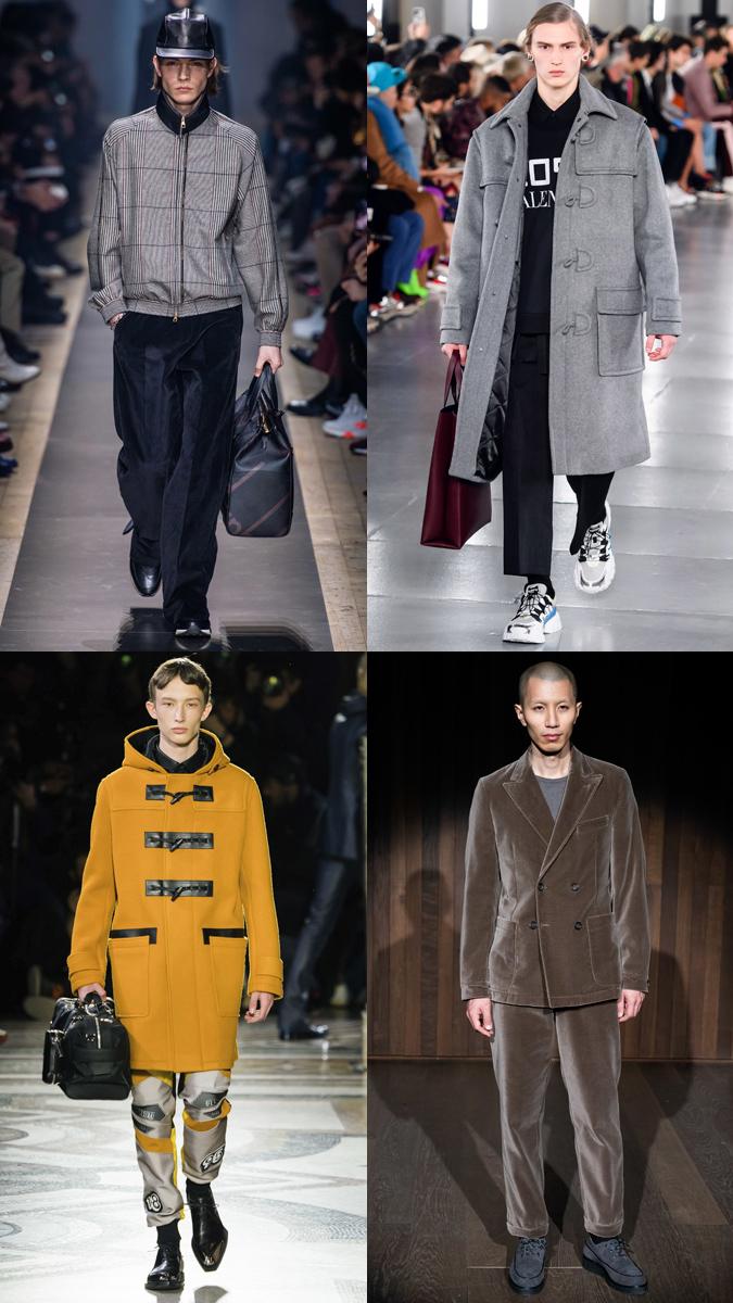 Ảnh: Dunhill - Valentino (hàng trên từ trái qua) | Berluti - Oliver Spencer (hàng dưới từ trái qua)