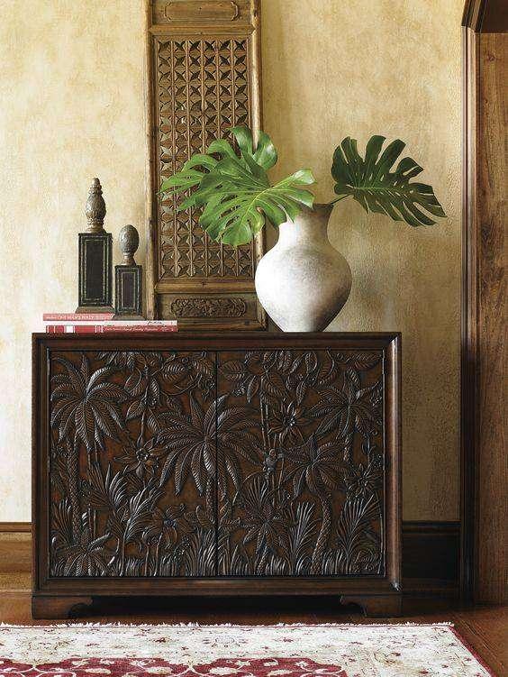 Vật liệu gỗ được sử dụng nhiều trong các thiết kế nội thất phong cách Đông Dương