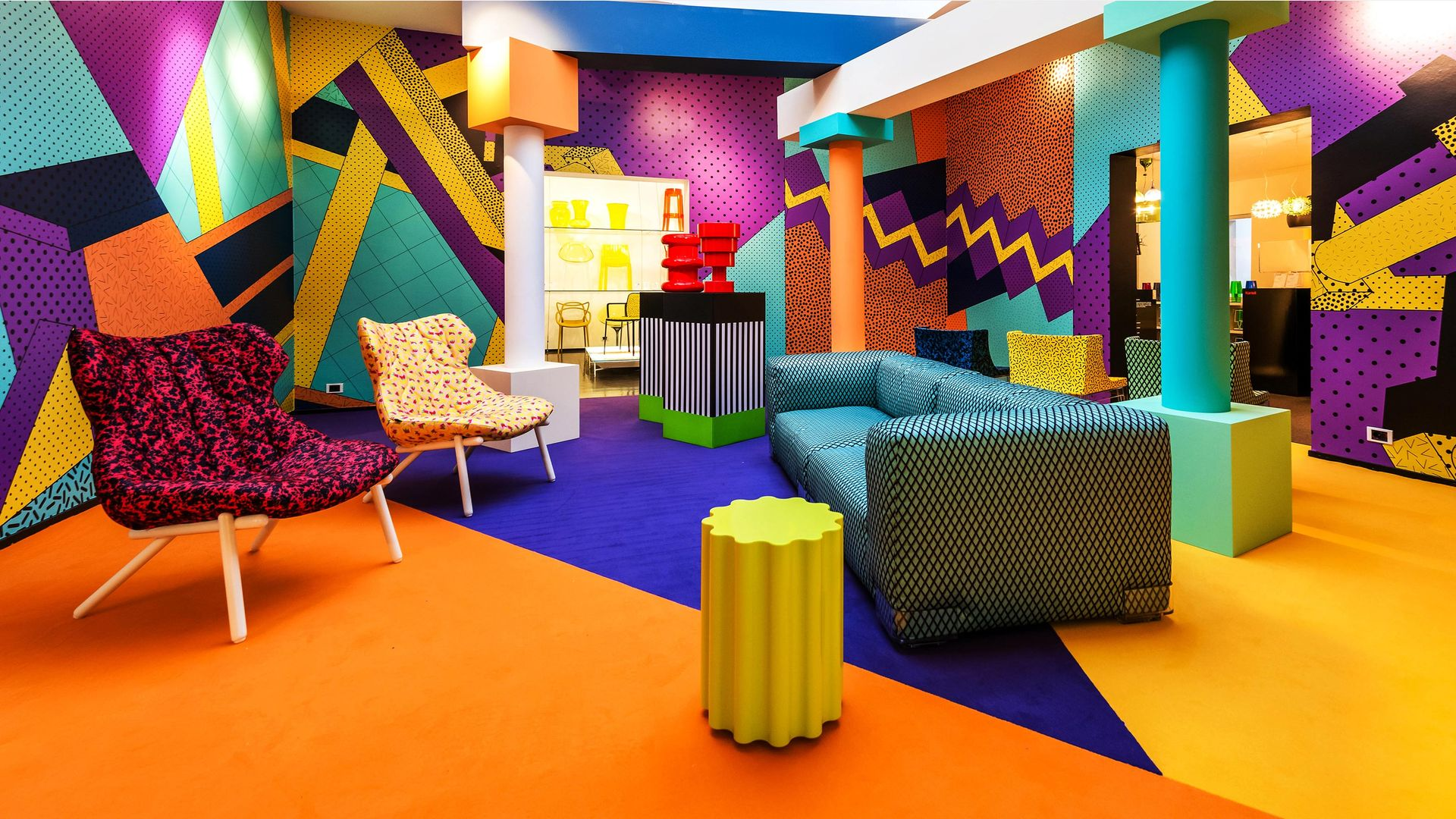 Trang trí nội thất theo phong cách Memphis