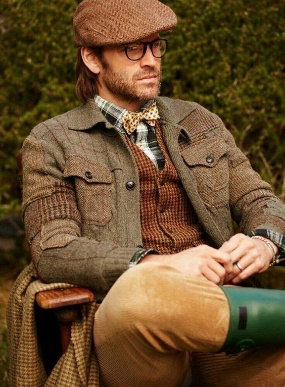 cách phối vải tweed dành cho nam theo phong cách cổ điển