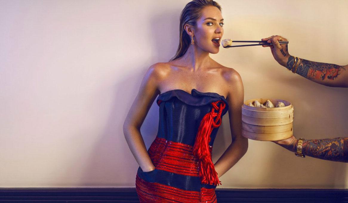 siêu mẫu cung Thiên Bình Candice Swanepoel