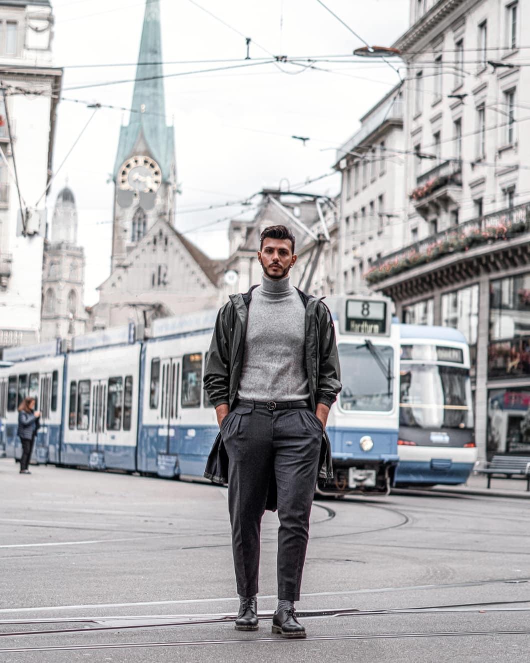phong cách workwear của massimo