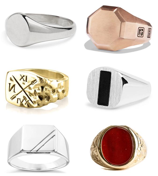 CáC loại nhẫn con dấu