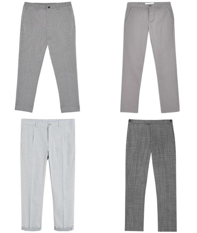 Quần trouser xám màu trung tính