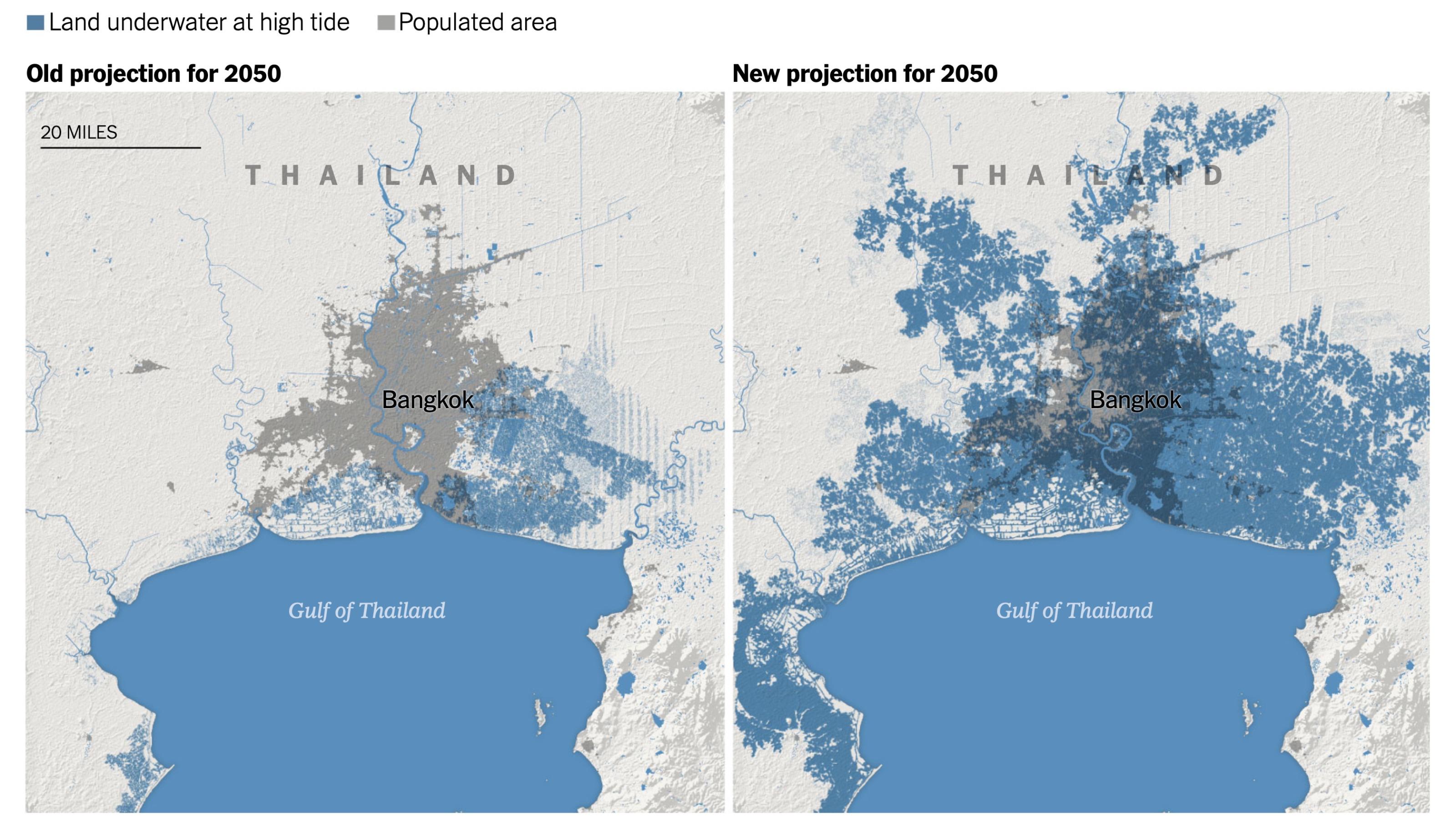 Thành phố Bangkok Thái Lan cũng bị ảnh hưởng