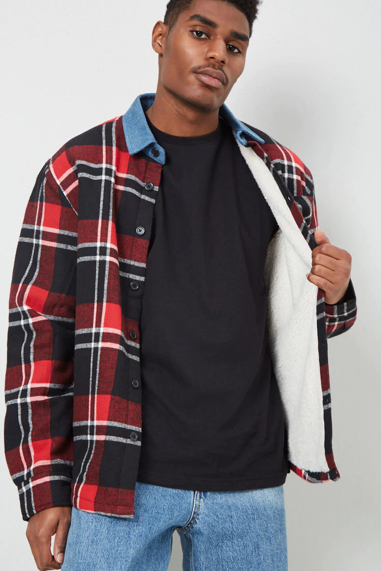 lined flannel-elle man