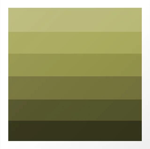 bảng màu sắc thái màu xanh olive