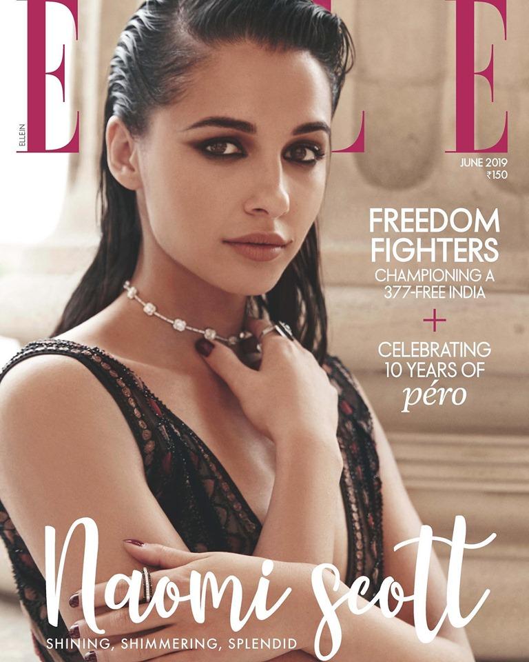 naomi scott trên bìa tạp chí elle