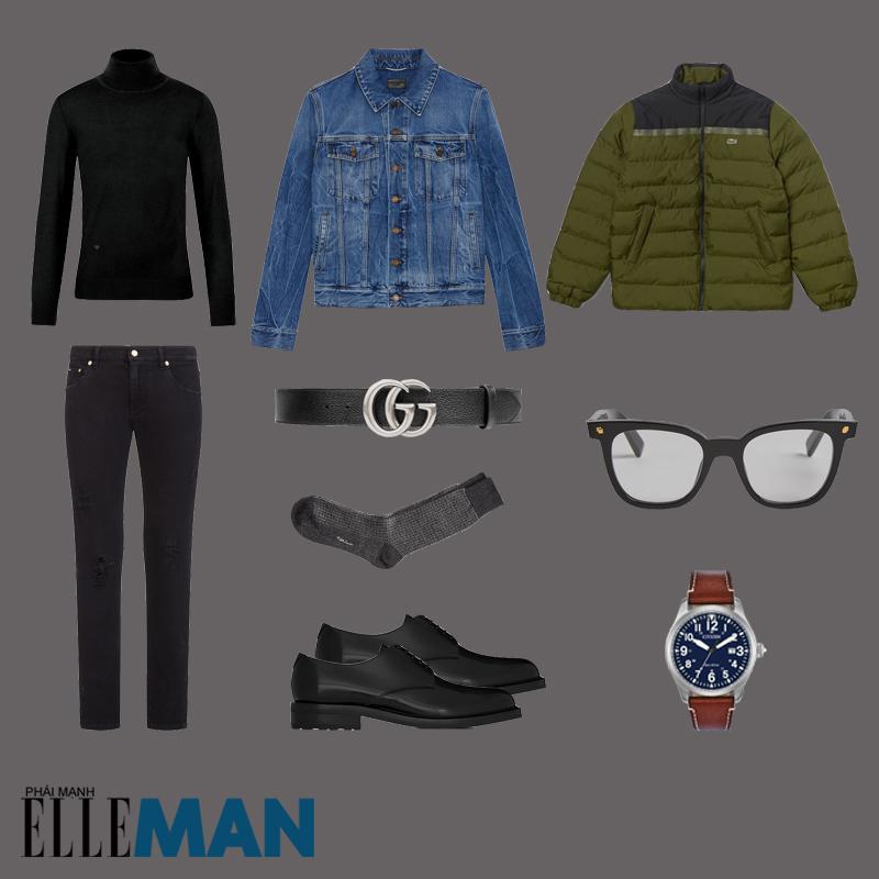 outfit 3 - phối đồ màu xanh olive