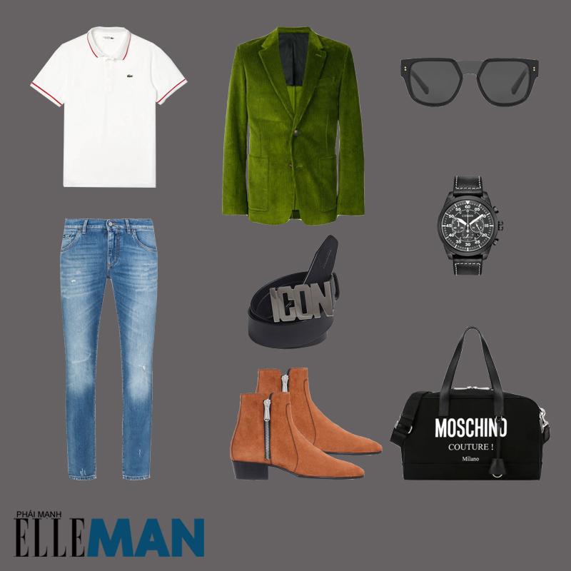 outfit 4 - phối đồ màu xanh olive