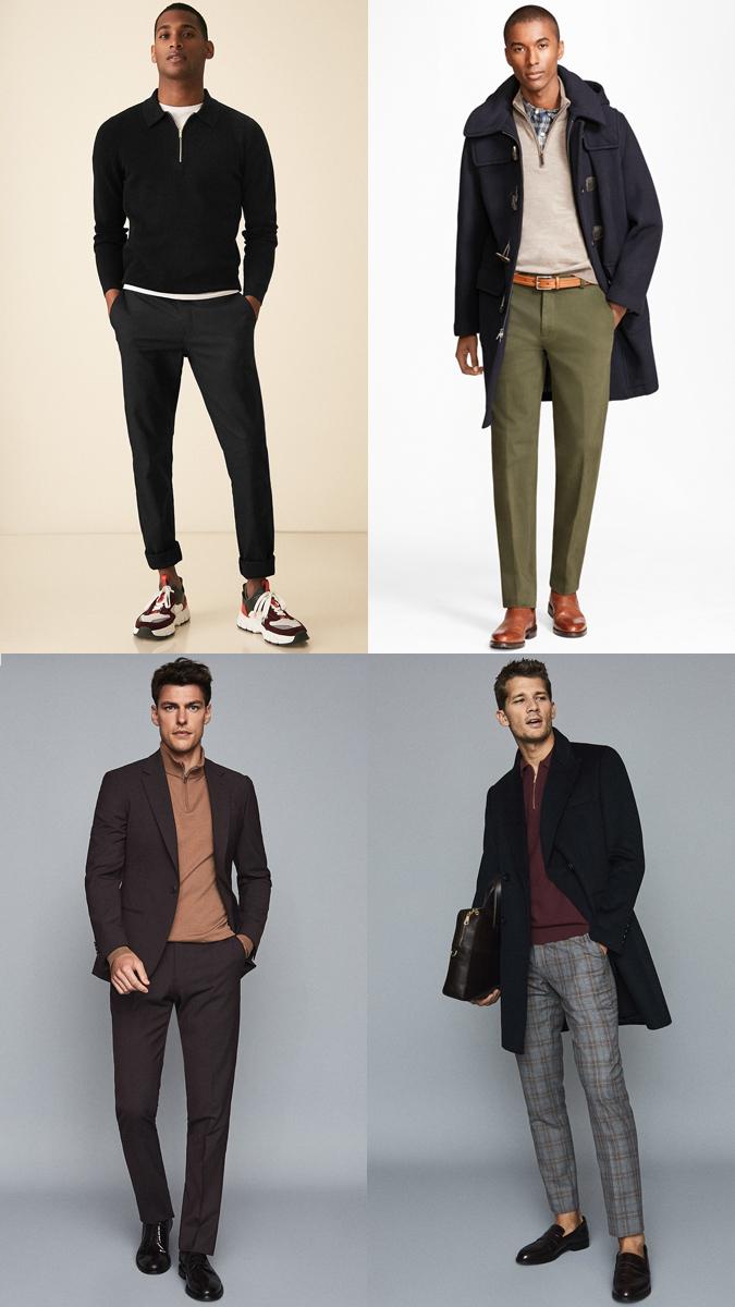 phong cách phối đồ đẹp mắt với những chiếc áo Half-Zip Sweater