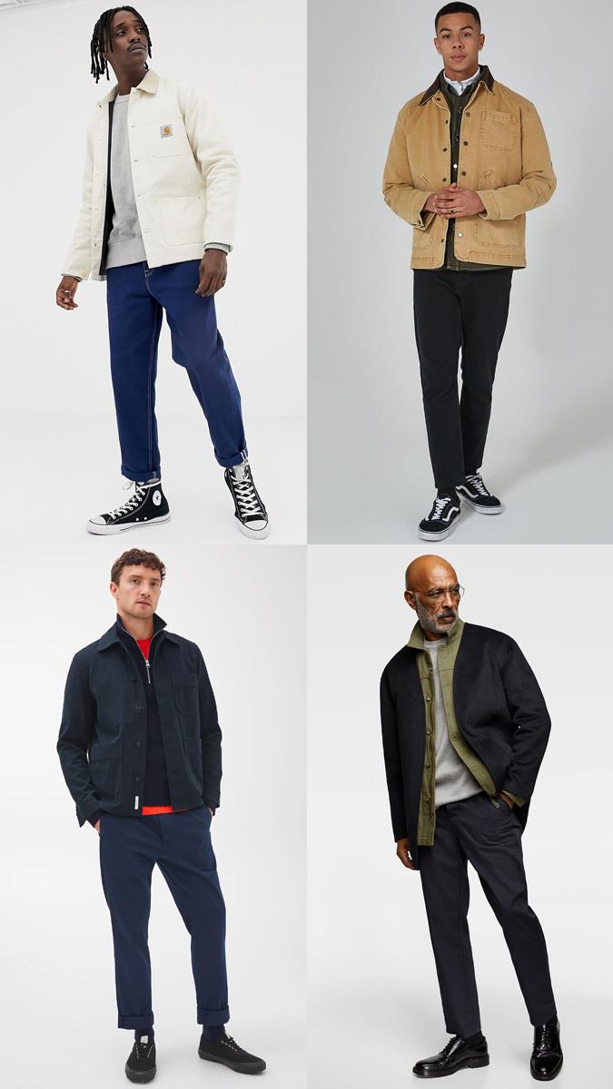 phong cách phối đồ layer với những chiếc áo khoác worker