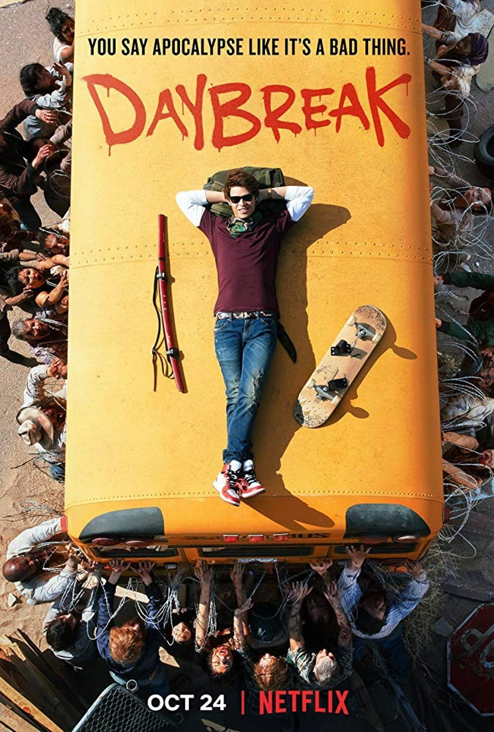 review phim daybreak - poster - elle man