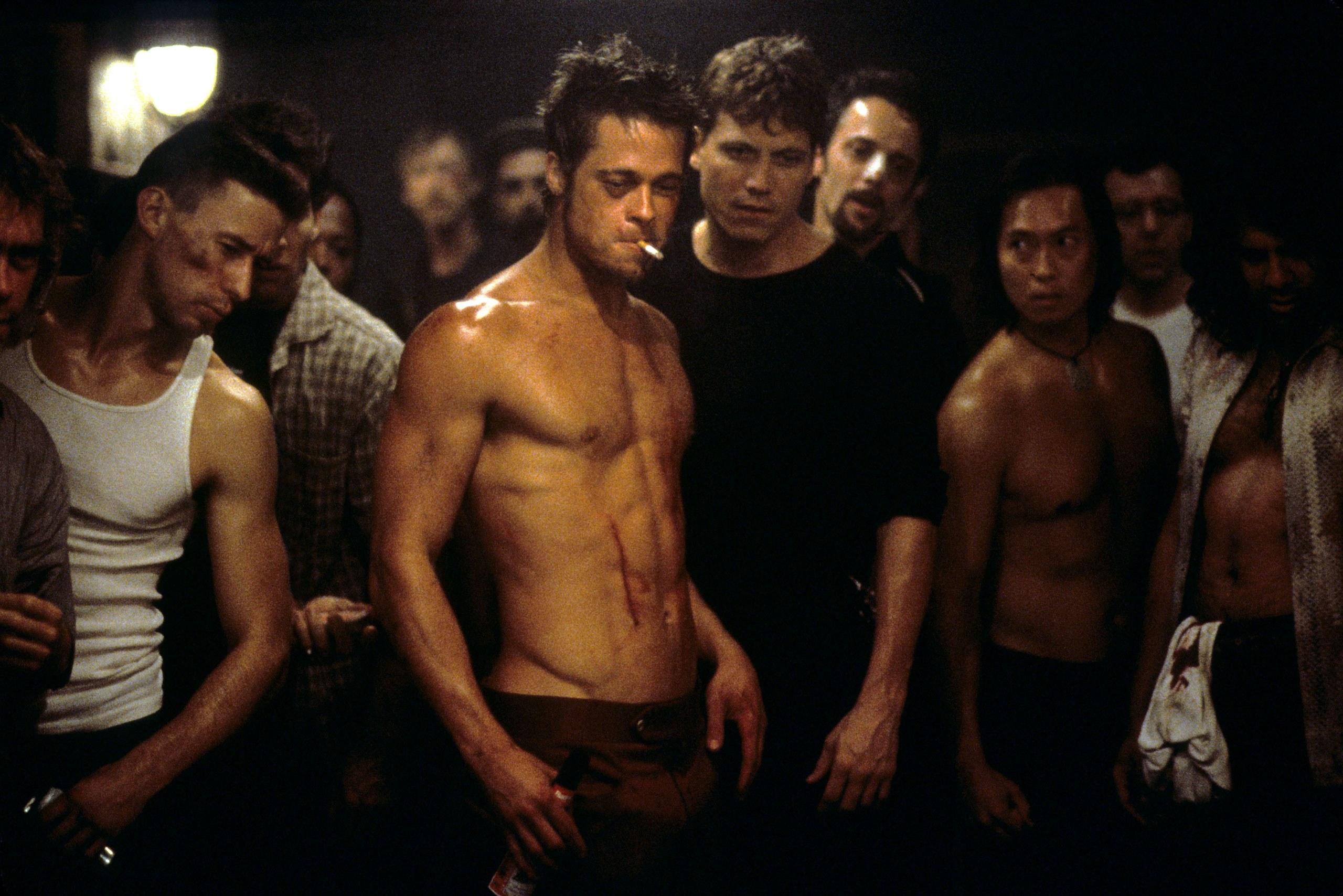 Brad Pitt trong bộ phim Fight Club
