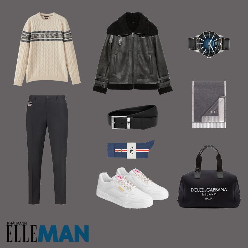 outfit 4 - phối áo khoác da