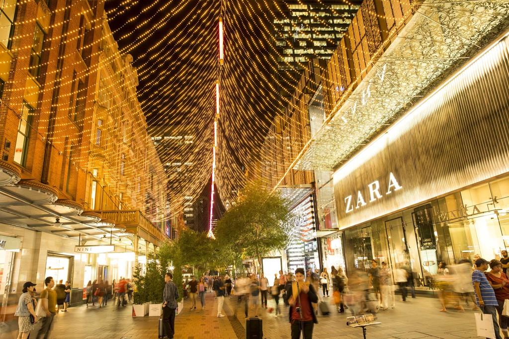 đại lộ ánh sáng Pitt Street Mall