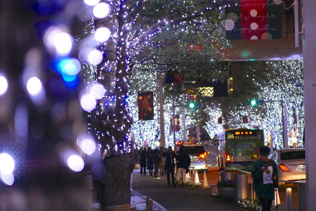 Những cung đường tại Tokyo đều lộng lẫy ánh đèn Giáng Sinh