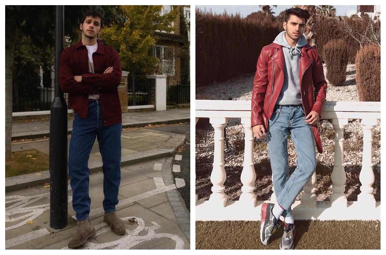 phối trang phục màu đỏ burgundy - elef và julian