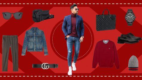ELLE Man Style Calendar: Nồng nàn và quyến rũ cùng trang phục màu đỏ burgundy