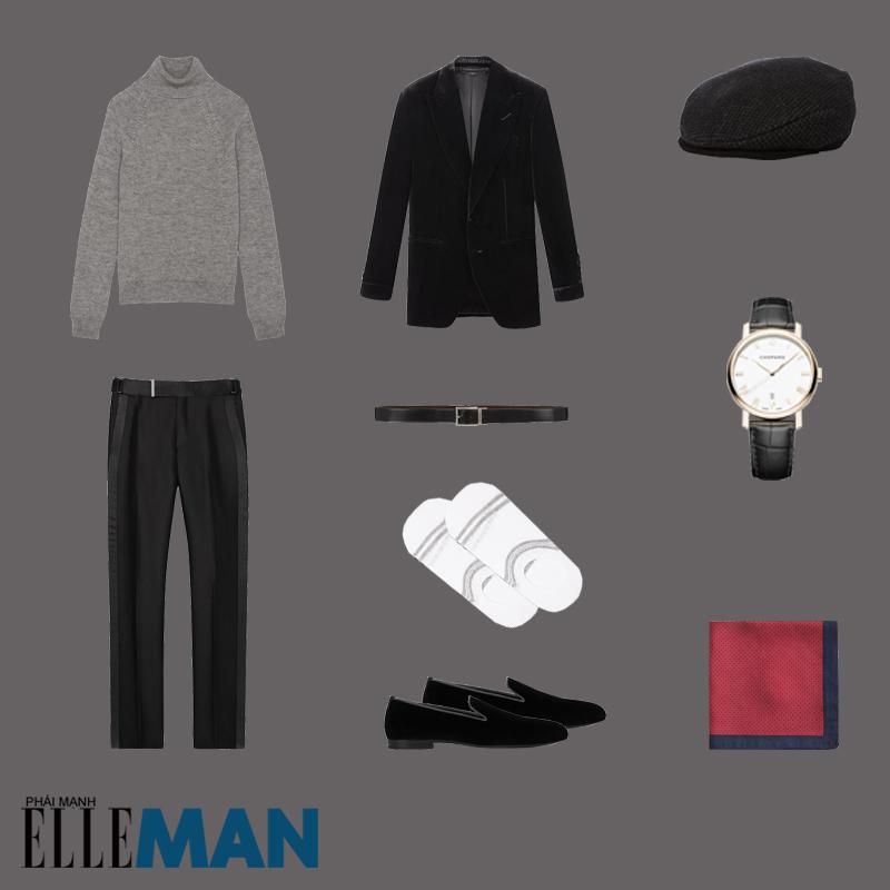 outfit 5 - phối đồ với mũ flat cap