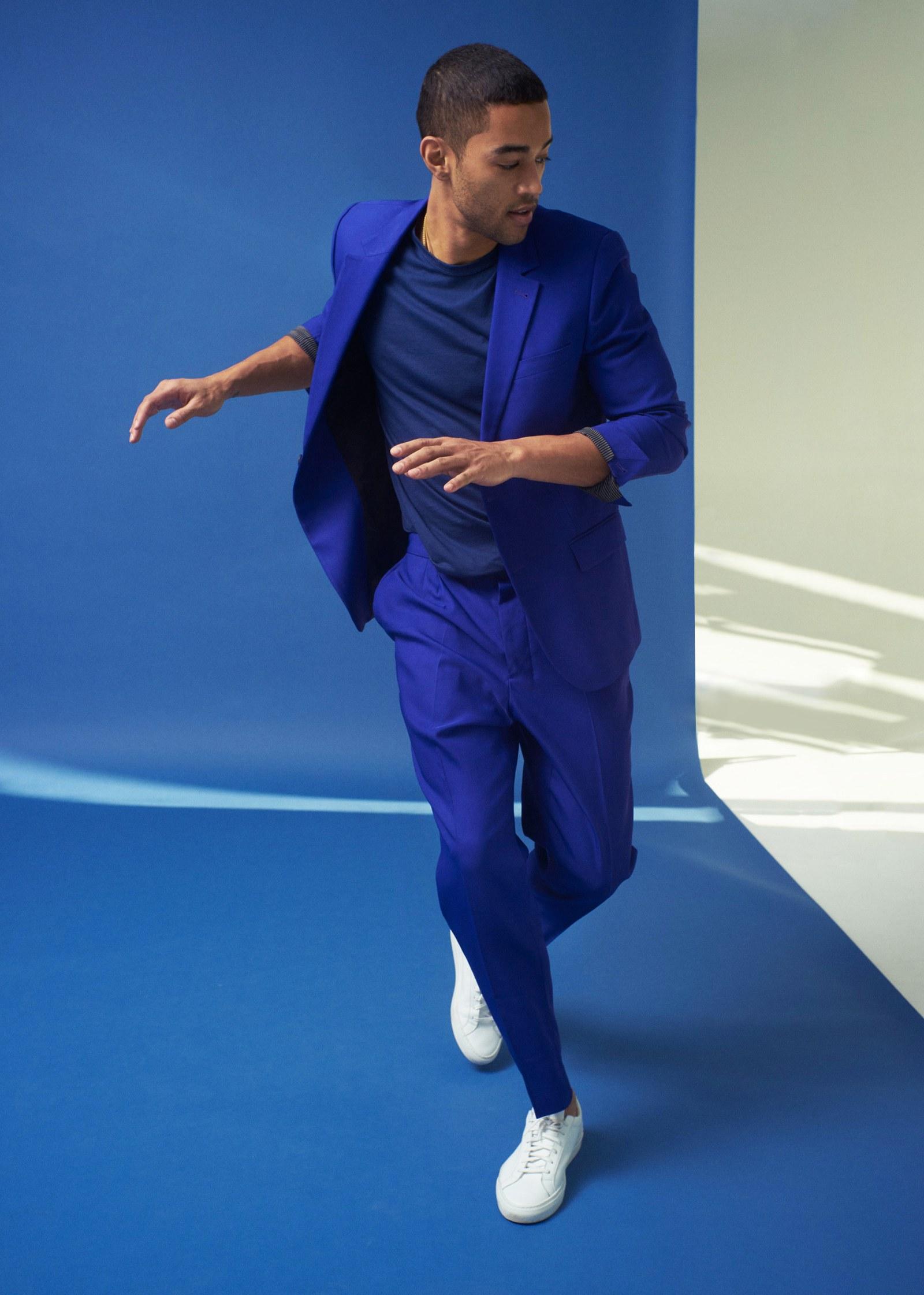 phối đồ màu xanh cổ điển - GQ