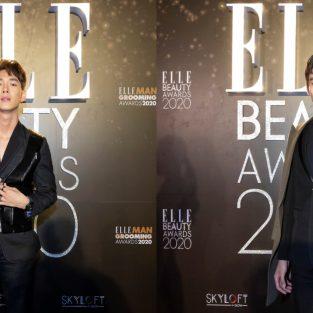 Song Luân và Lãnh Thanh lịch lãm trên thảm đỏ ELLE Beauty Awards 2020