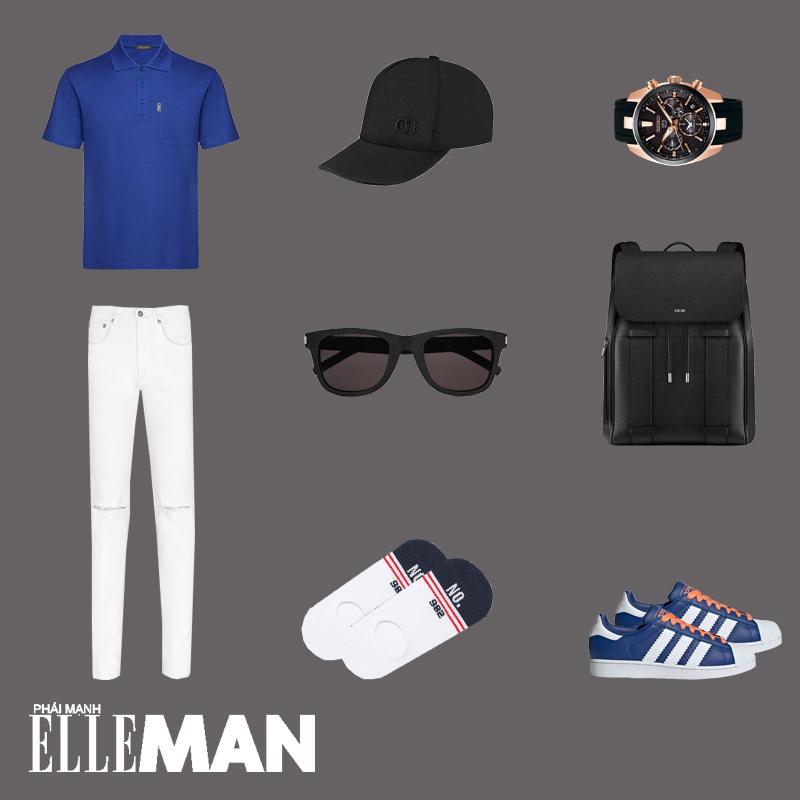 outfit 1 - phối đồ màu xanh cổ điển