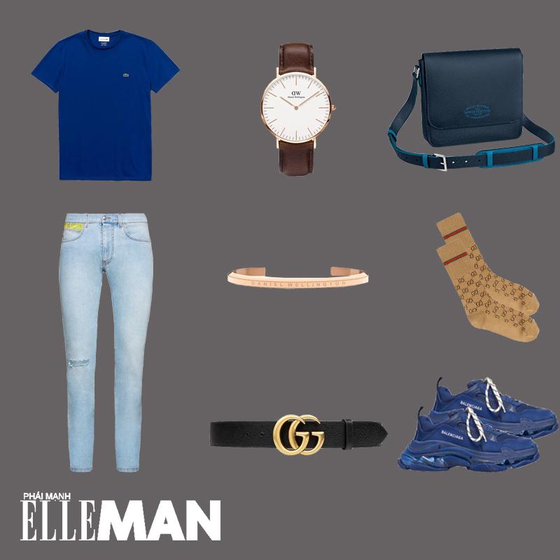 outfit 3 - phối đồ màu xanh cổ điển