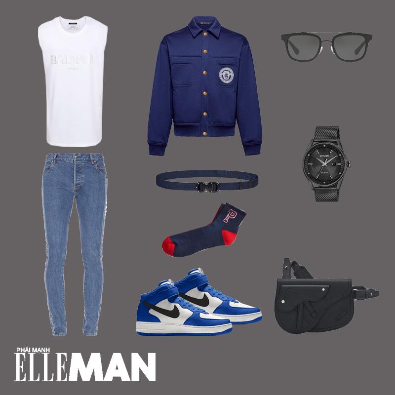 outfit 4 - phối đồ màu xanh cổ điển