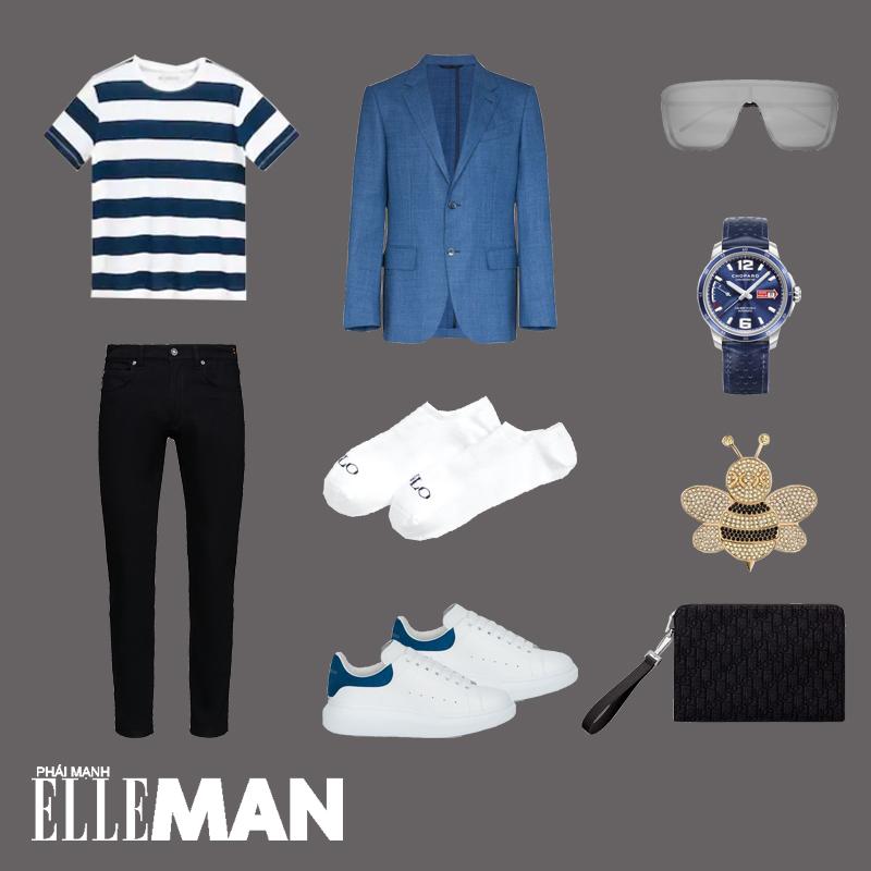 outfit 5 - phối đồ màu xanh cổ điển
