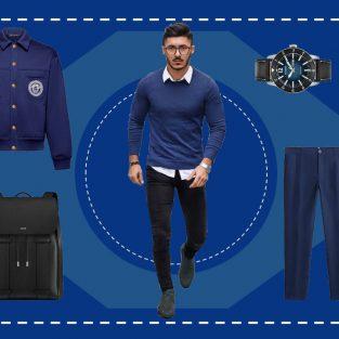 ELLE Man Style Calendar: Mở màn năm 2020 cùng trang phục sắc xanh cổ điển